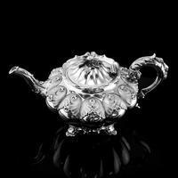 Magnificent Georgian Solid Silver Tea Set / Service 3 Piece Set - Barnard 1835 (6 of 29)
