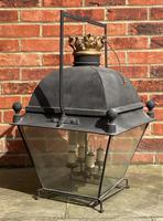 Large Antique Copper & Iron Lantern c.1900 (3 of 6)