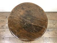 Antique Chinese Elm Three Leg Stool (3 of 10)