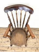 Antique 19th Century Penny Armchair (4 of 9)