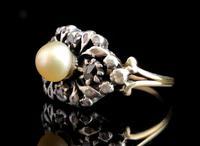 Antique Georgian Diamond & Pearl Ring, 18ct Gold (4 of 14)