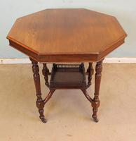Antique Walnut Shaped Occasional Centre Table