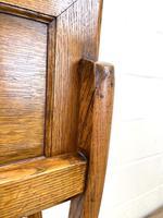 Antique Oak Folding Campaign Desk (10 of 10)