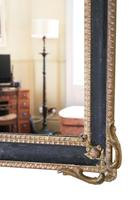 Large Gilt and Black 19th Century Overmantle or Wall Mirror (4 of 8)