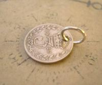 Antique Pocket Watch Chain Fob 1920 Silver Lucky Three Pence Old 3d Coin Fob (7 of 8)