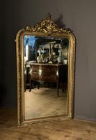 Large French Napoleon III Gilt Wall Mirror (3 of 7)