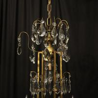 French Gilded Birdcage Antique Chandelier (10 of 10)