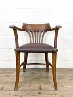 Early 20th Century Antique Oak Desk Chair (2 of 9)