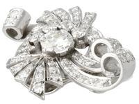 4.39ct Diamond & Platinum Earrings - Art Deco - Vintage c.1940 (3 of 9)