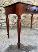 Antique Victorian Mahogany Two Drawer Side Table (17 of 20)