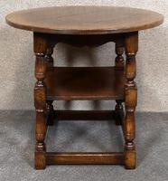 Titchmarsh & Goodwin English Oak Tavern Table / Occasional Table RL87