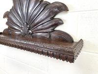 Victorian Carved Oak Wall Hanging Shelf (4 of 7)