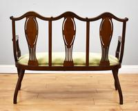 Victorian Mahogany & Inlaid Lounge Suite (8 of 23)