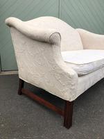 English Upholstered Camel Back Sofa (3 of 8)
