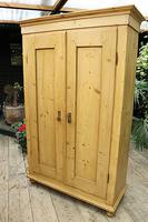 Fabulous! Georgian! Old Pine Two Door Cupboard with Shelves - We Deliver! (3 of 15)