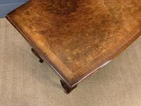 Burr Walnut Bow Fronted Desk / Table c.1910 (9 of 13)