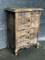 Antique Bleached Oak French Chest of Drawers (7 of 8)