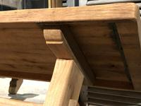 Large French Bleached Oak Trestle Farmhouse Dining Table (15 of 16)
