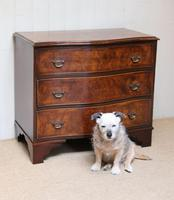 Walnut Serpentine Front Chest of Drawers (3 of 10)