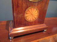 Antique Sheraton Inlaid 8 Day Mantel Clock (3 of 7)