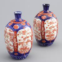 Pair of Japanese Meiji Period Square Form Imari Vases c.1890 (3 of 9)