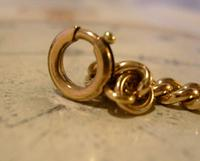 Antique Pocket Watch Chain 1890 Victorian 12ct Rose Gold Filled Albert With T Bar (11 of 12)