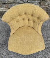 Small Antique Victorian Upholstered Salon Chair (12 of 17)