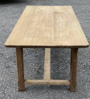 Large French Bleached Farmhouse Dining Table (15 of 26)