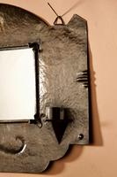 Amsterdam School Hammered Copper Wall Mirror / Sconces (8 of 13)