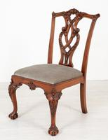 Set of 8 Mahogany Chippendale Style Dining Chairs (13 of 17)