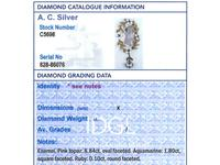 8.84ct Pink Topaz, 1.80ct Aquamarine, 0.10ct Ruby & Enamel, 15ct Yellow Gold Pendant - Antique c.1910 (7 of 9)