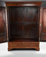 Edwardian Mahogany Inlaid Two Door Wardrobe (5 of 5)