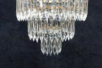 Art Deco Italian Three Tier Crystal Glass Chandelier (6 of 7)
