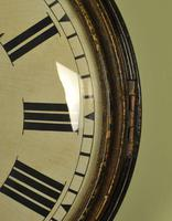 Early Large Convex Wooden Dial Clock (4 of 10)