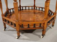 Exceptional Late 19th Century Octagonal Satinwood Table (5 of 7)