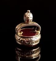 Antique Victorian 9ct Gold Carnelian Seal Fob (5 of 13)