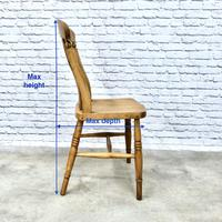 Matched Set of 6 Windsor Slatback Kitchen Chairs (8 of 8)