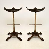Pair of Antique Victorian Cast Iron Tractor Bar Stools (9 of 12)