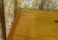 Victorian Stripped Pine Chest with 4 Drawers & White Porcelain Knobs (4 of 9)