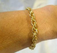Vintage Bracelet 1970s 12ct Gold Filled Fancy Link with Stamped Bolt Ring (10 of 10)