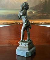 Fine Large 19th Century Antique Solid Bronze Cherub Sculpture Statue Figurine (5 of 13)