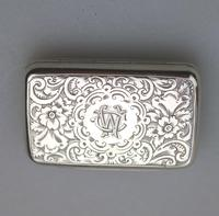 Attractive Victorian Engraved Solid Silver Vinaigrette London c.1877 (3 of 8)