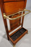 Late 19th Century Fine Quality Oak & Brass Stick Stand (5 of 5)