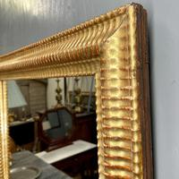 French Rippled Gilt Overmantle Mirror (5 of 8)