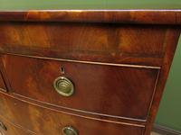 Antique Bow Front Mahogany Chest of Drawers, Country House Chest (2 of 16)