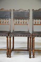4 French Leather Dining Chairs (10 of 12)
