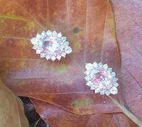 Pink Sapphire Diamond Cluster Earrings (6 of 6)