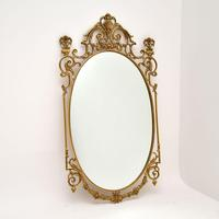 Pair of Antique French Style Brass Mirrors (3 of 12)