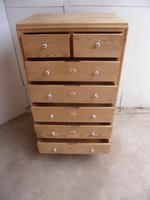 Lovely Art Deco 1930s Pine 7 Drawer Chest of Drawers to wax / paint (10 of 11)