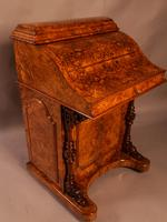 "Superb Victorian Burr Walnut ""Jack in a Box"" Davenport (8 of 16)"